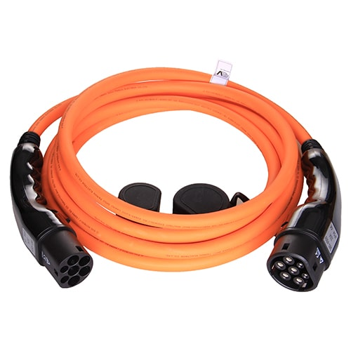 1-EV Type2 -> Type2 orange (3x32A) Ładowarka EV